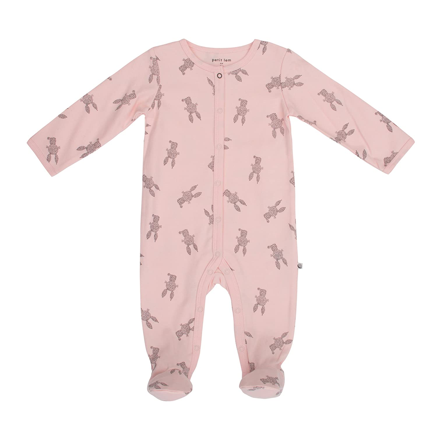 Softand Cute Onesie Pajamas Petit Lem Girls Baby Sleeper Organic Cotton