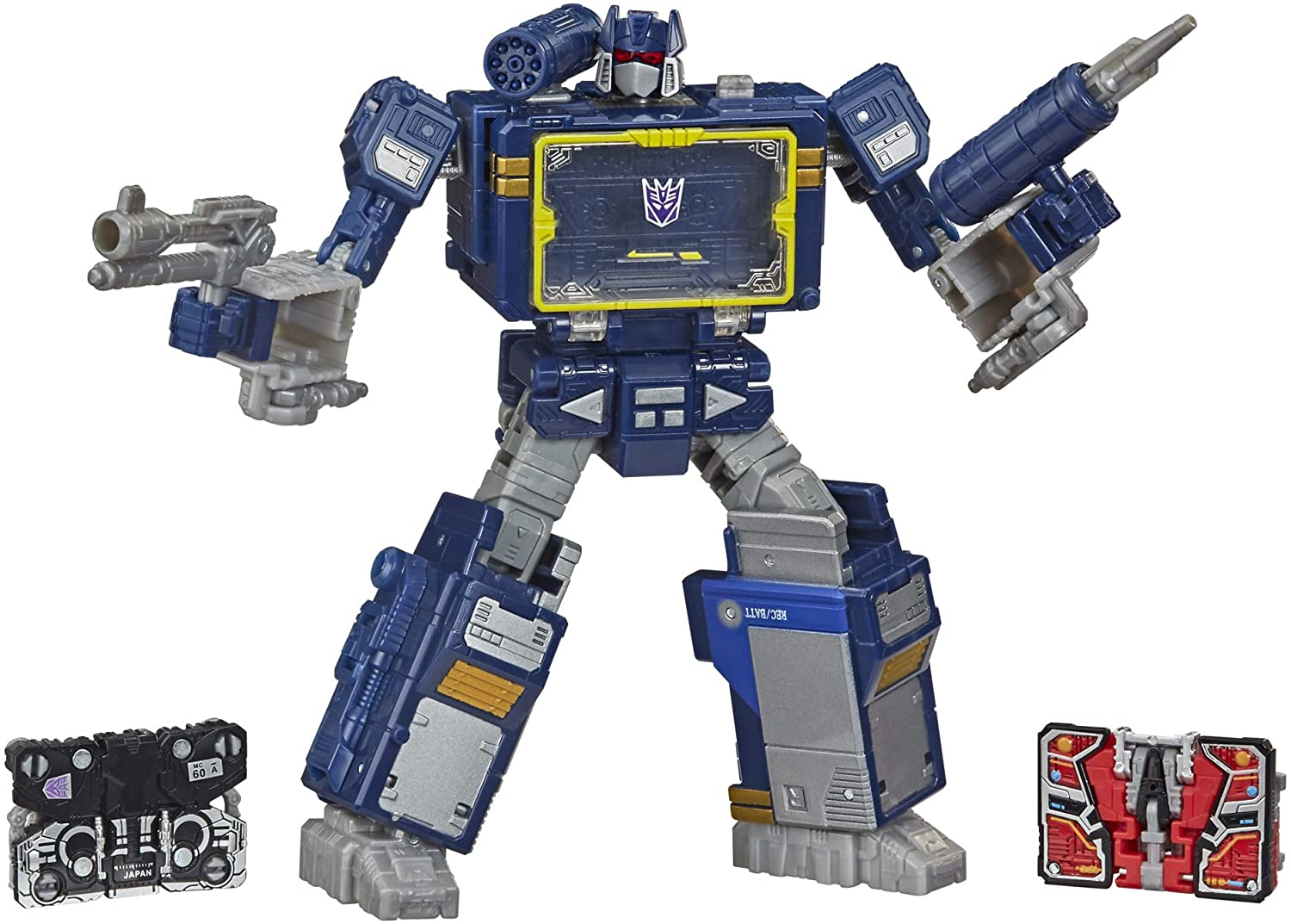 Transformers Netflix War for Cybertron Trilogy Voyager Class Soundwave Battle 3-Pack with Laserbeak and Ravage
