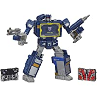 Transformers F0708 Toys Generations War for Cybertron Series-Inspired Voyager Soundwave Battle 3-Pack Action Figures…