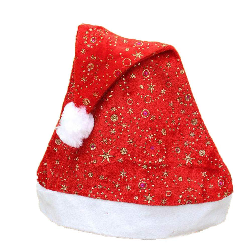 a6efaa98a0718 Amazon.com  Dressin New 2018 Unisex Christmas Holiday Warm Print Hat Xmas  Cap Santa Claus Gifts for Your Family  Clothing