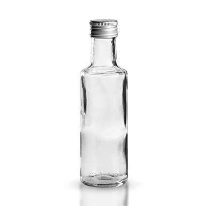 10 x botella de licor alrededor de 100 ml - cristal - apertura 24 mm -