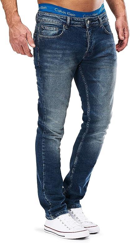 MERISH Jeans Herren Slim Fit Jeanshose Stretch Designer Hose Denim 1501