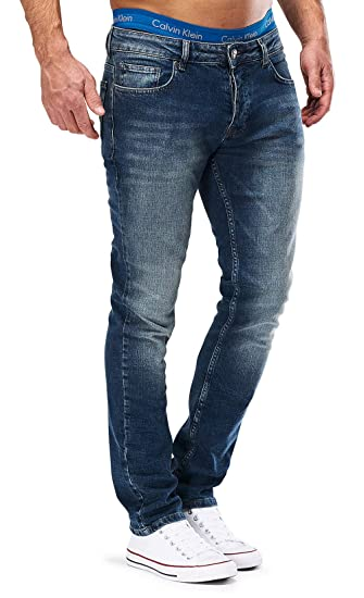 MERISH Jeans Herren Slim Fit Jeanshose Stretch Designer Hose Denim