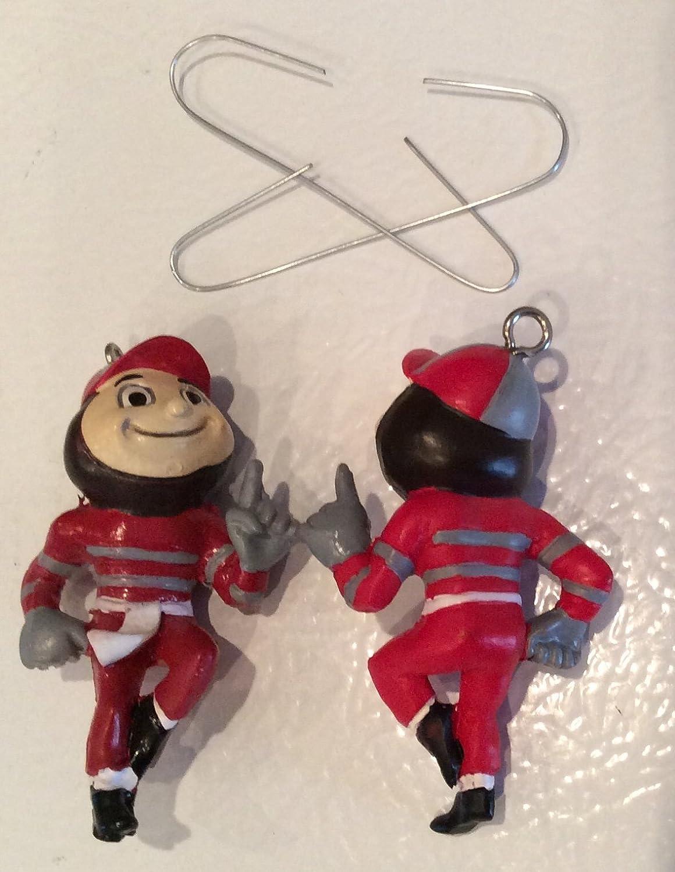Amazon.com: Ohio State University Brutus Buckeye Christmas Ornaments ...
