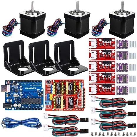 WANGYONGQI Kit CNC de Impresora 3D, para Arduino GRBL Shield + UNO ...