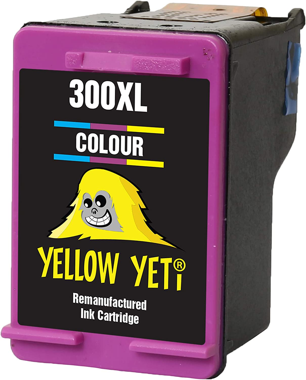 Yellow Yeti Remanufacturado 300XL 300 XL Cartucho de Tinta Color para HP Deskjet D1660 D1663 D2530 D2545 D2560 D2660 D5560 F2420 F2480 F4210 F4240 F4272 F4280 F4580 F4583 Photosmart C4780 C4680: Amazon.es: