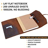 Refillable Leather Journal Writing Notebook - Lay