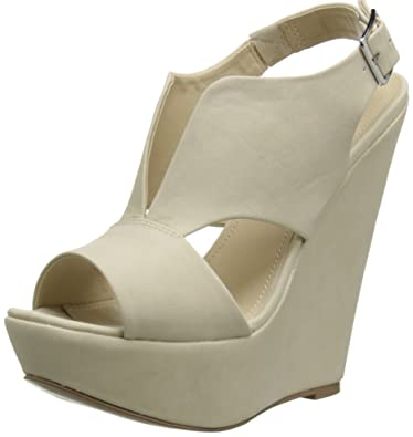Steve Madden Women's Xander Wedge Sandal, Bone, ...