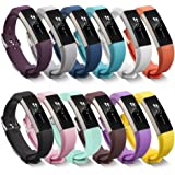 Fitbit Alta Band, BeneStellar Silicone Replacement Band for Fitbit Alta HR and Alta Band With Metal Clasp (Classic)