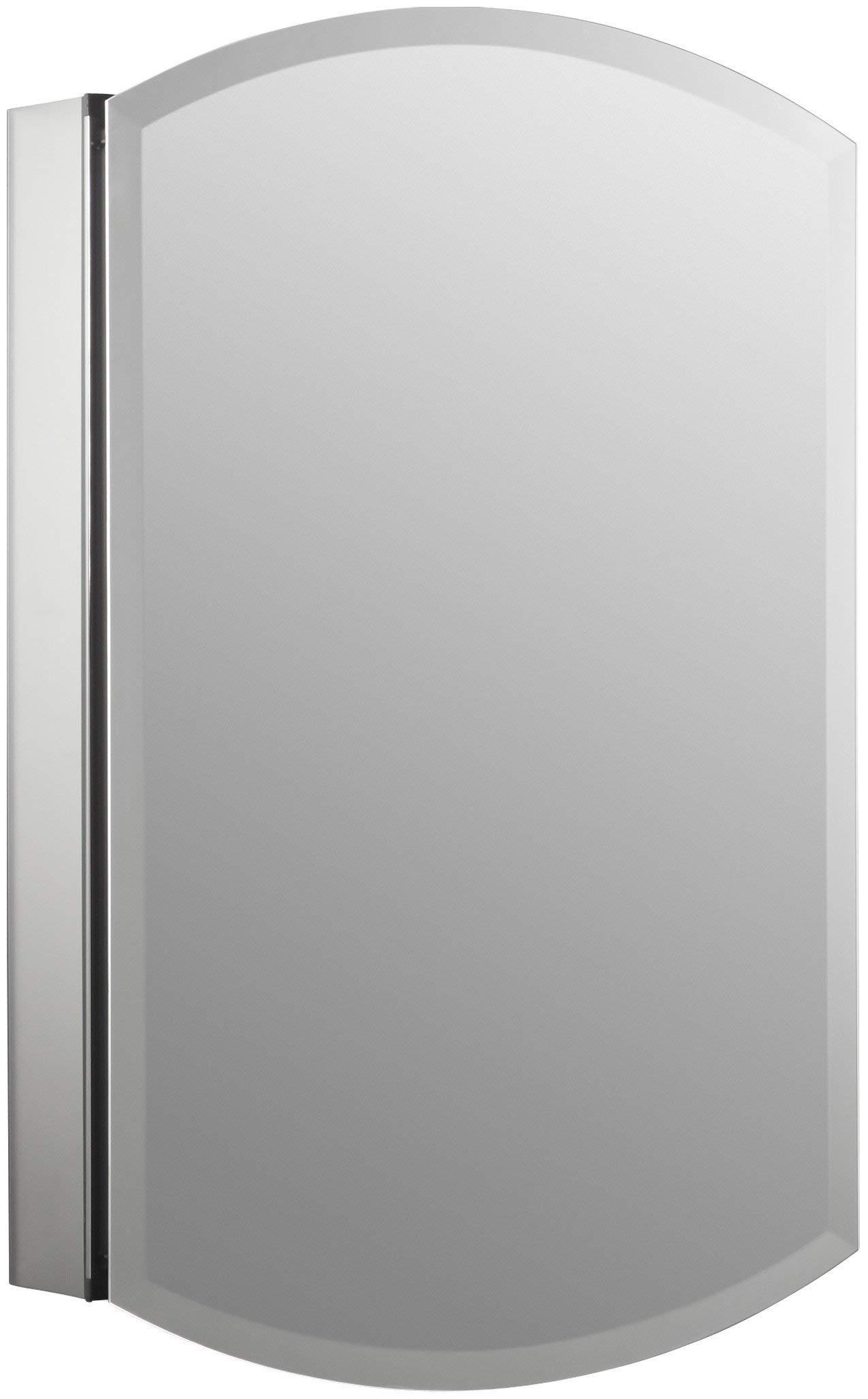 KOHLER K-3073-NA Archer Frameless 20 inch x 31 inch Aluminum Bathroom Medicine Cabinet; ; Recess or Surface Mount (Renewed)