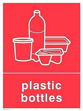 Viking signos ij1421-a3p-3 m recycling-plastic botellas señal, 3 mm
