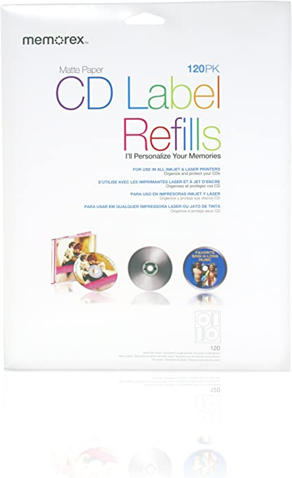 Avery 150 High Resolution Clear Refills  CD//DVD Labels AFTER BURNER REFILL NEW