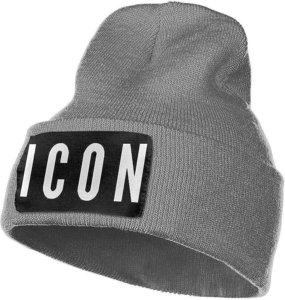 Ace Mate Icon Warm Winter Hat Gorro de Punto Gorro de Calavera Cuff Beanie Hat Sombreros de Invierno para Hombres y Mujeres