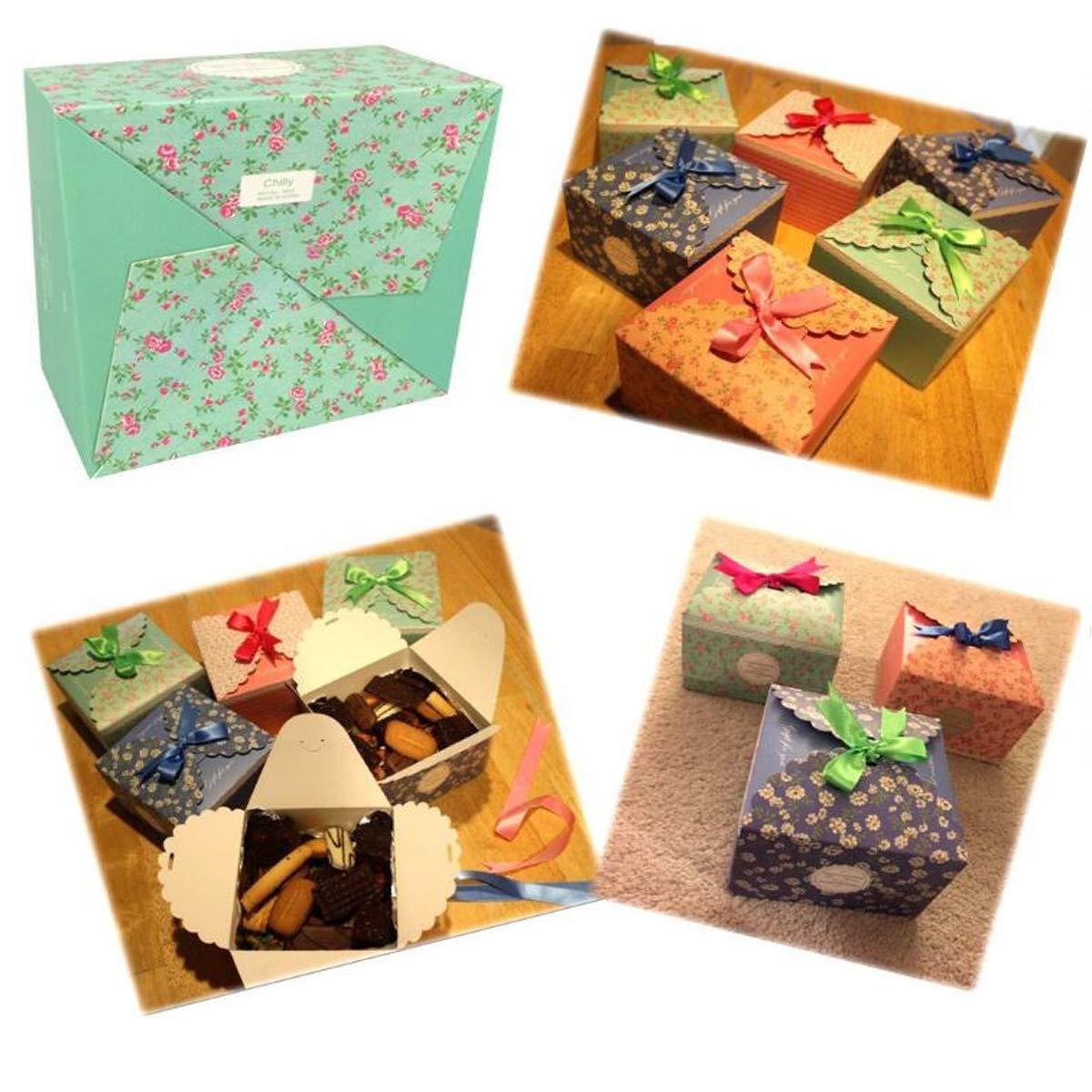Amazon.com: Cajas de regalo plegables Twdrer Set de 24 cajas ...
