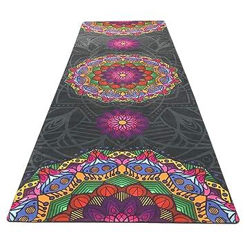 WUYEA Impresión de Gamuza Natural Anti Slip Yoga Mat ...