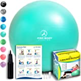 Exercise Ball - Professional Grade Anti-Burst Fitness, Balance Ball for Pilates, Yoga, Birthing, Stability Gym Workout…