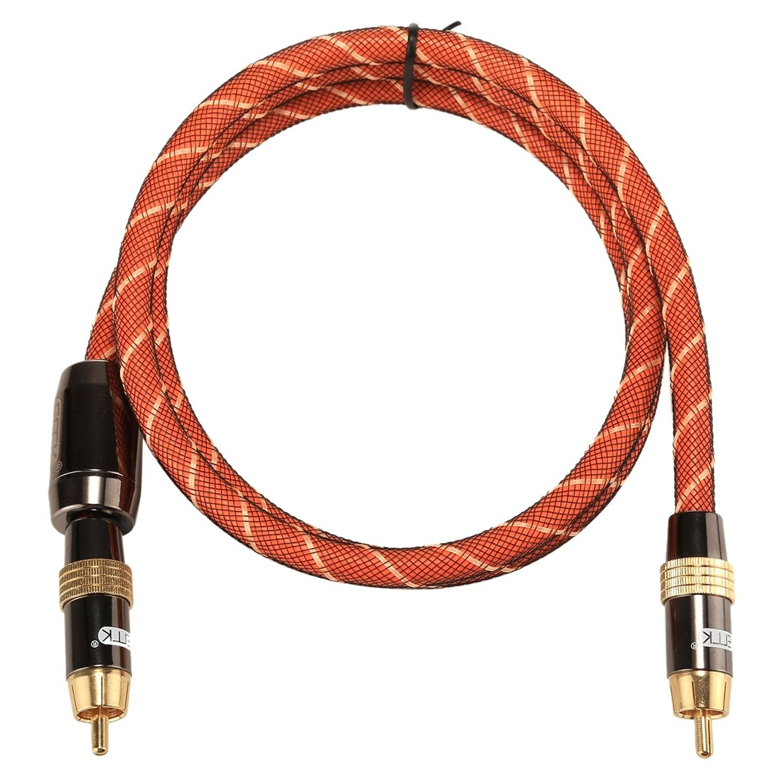 Adaptadores de Audio, TZ/A 1 m OD8.0mm chapado en oro de metal cabeza RCA a RCA enchufe digital Coaxial Cable de interconexión Audio/Video RCA Cable: ...