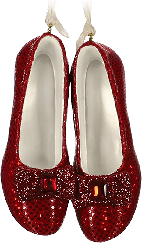 Hallmark Ornament 2019 Wizard of Oz Ruby Slippers Boxed Red Glitter