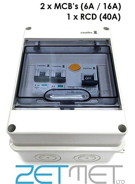 5 Way IP65 Weatherproof Consumer Unit Fuse Box Enclosure Garage Caravan  Way Fuse Box on