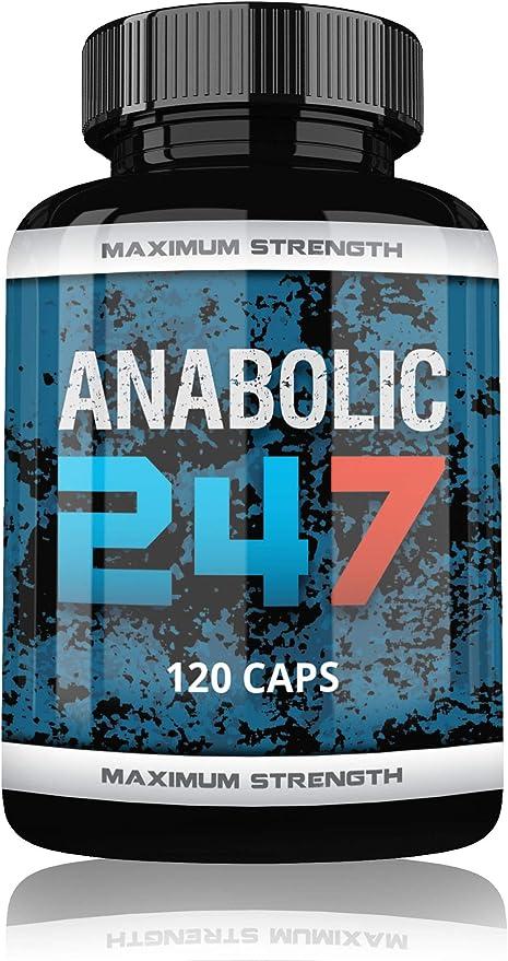 Anabolic 247 by VargPower Testo Booster | 120 cápsulas | Producto original | Nuevo entrenamiento testosteron Booster Bodybuilder y Hombres | Fabricado ...