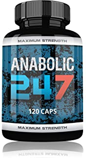 Anabolic 24/7 Fuerte testosterona Booster para hombres, 120 muscular montaje pastillas Tribulus terr ESTRIS + creatin…