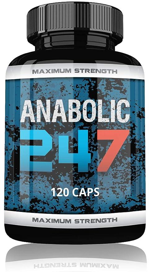 Anabolic 24/7 Fuerte testosterona Booster para hombres, 120 muscular montaje pastillas Tribulus terr