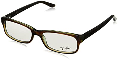 ray ban havana green eyeglasses  ray ban eyeglasses rb 5187 2445 havana green 50mm