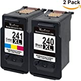 Valuetoner Remanufactured Ink Cartridge Replacement PG-240XL CL-241XL High Yield 5206B005 5206B001 5208B001 (1 Black, 1 Color) 2 Pack for Pixma MG3620 MX432 MX532 MG3520 MX452 MX512 Printer