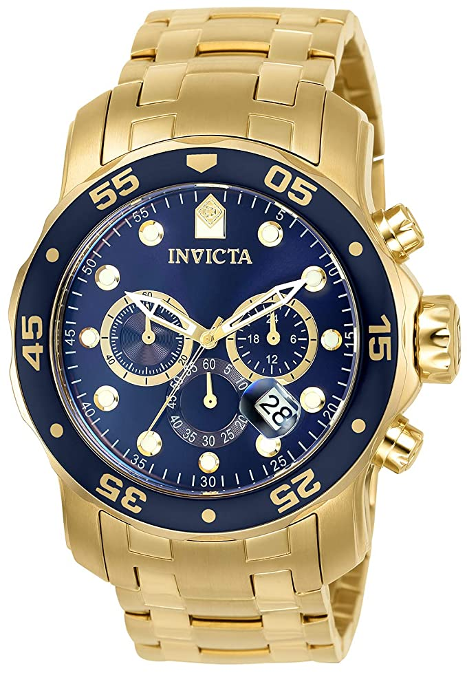 Invicta 0073 Pro Diver - Scuba Reloj para Hombre acero inoxidable Cuarzo Esfera azul
