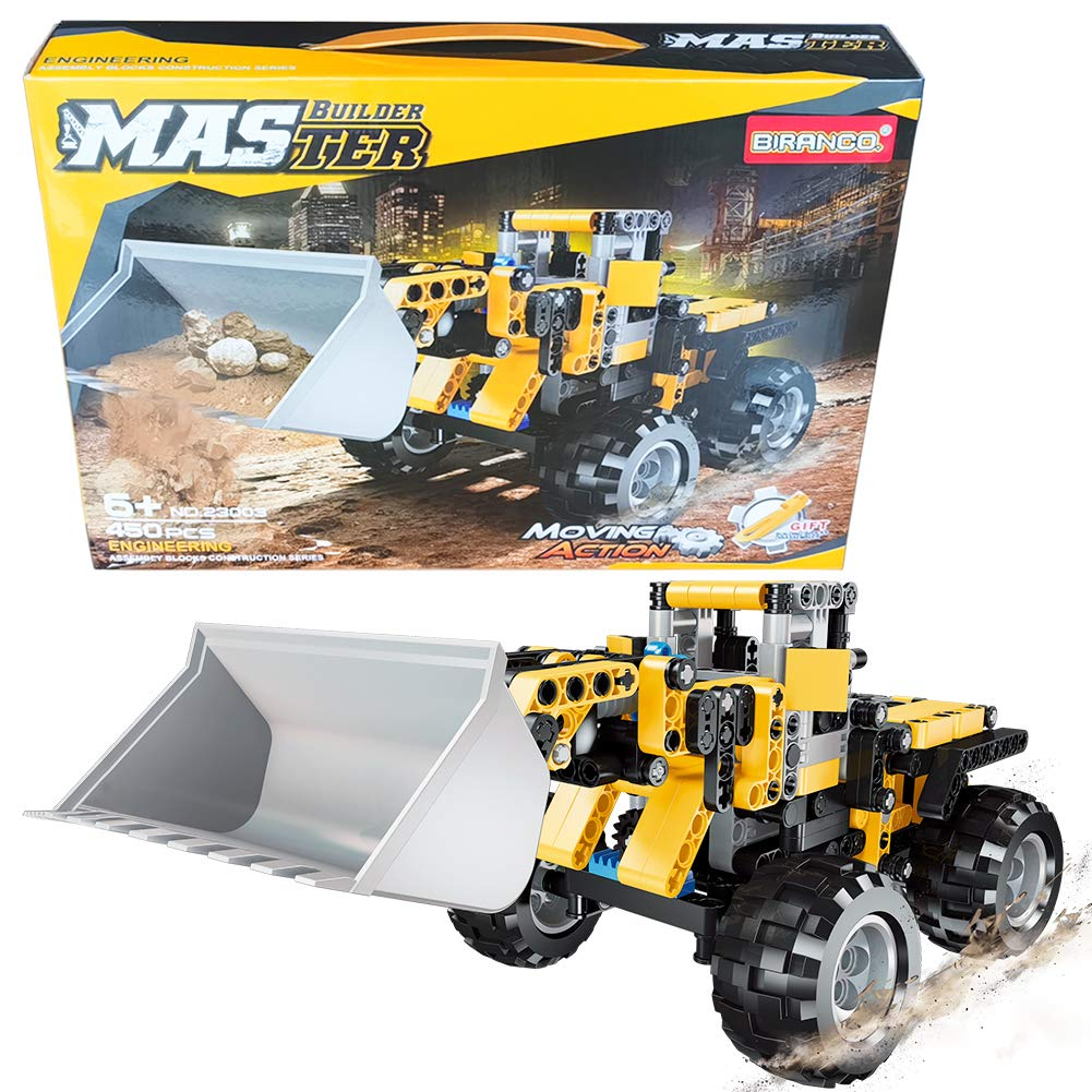 STEM Construction Toys   Bulldozer Building Kit, Front Wheel Loader - Top Educational Engineering Toy Set for Boys and Girls Ages 6 7 8 9 10-12 Year Old and up, Best Toy Gift for Kids, Activity Game