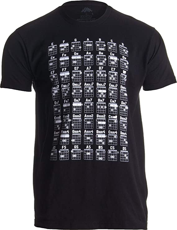 Tabla de acordes de Guitarra | Camiseta Fresca de Las Notas de la ...