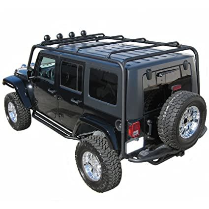 Wrangler Roof Rack >> J020 Trail Fx Black Roof Rack Jeep Wrangler 4 Door
