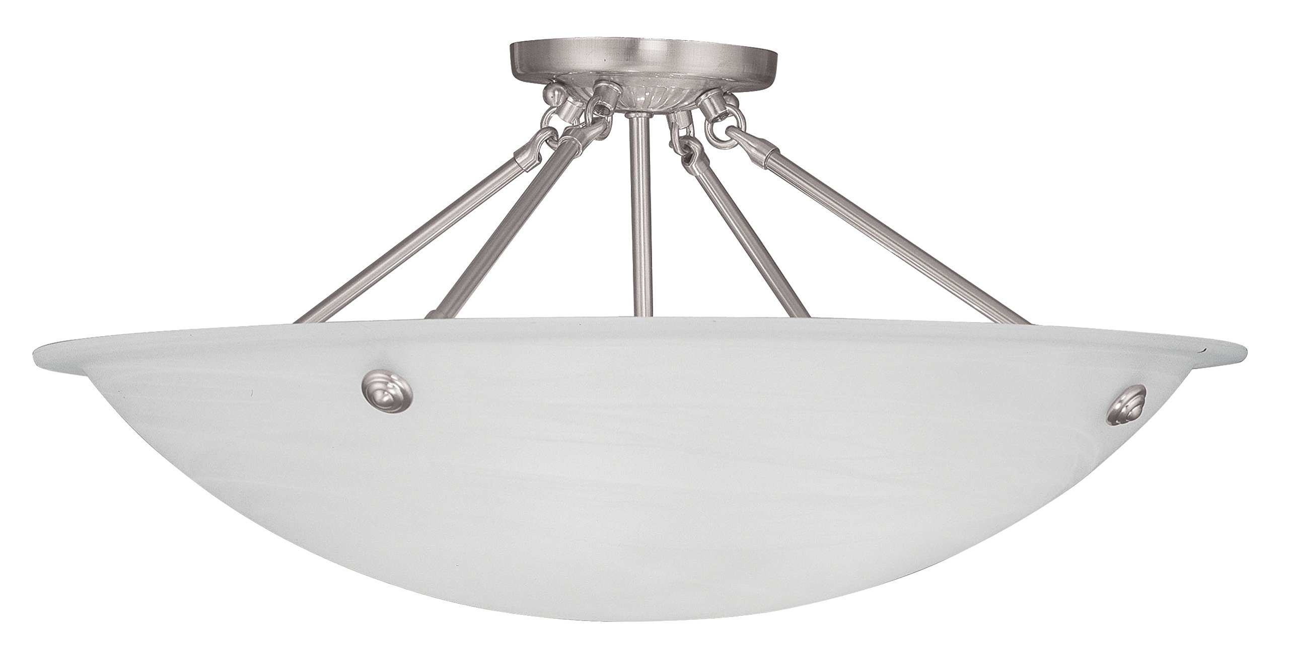 Livex Lighting 4275-91 Oasis 4-Light Ceiling Mount, Brushed Nickel