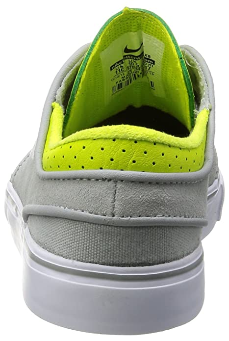 innovative design d65f0 0d1f9 Amazon.com   Nike Stefan Janoski Skate Shoe - Little Boys  Base Grey Venom  Green White, 12.0   Skateboarding