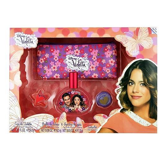 Violetta violetta set edt 30+ eyeshadows+lipgloss+bag 0.3 ml: Amazon.es