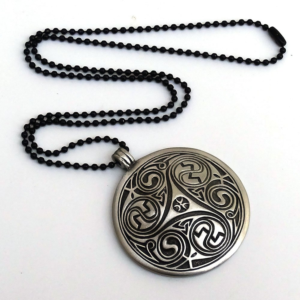 Huge Celtic Merlin Morgana Druid Triskele Triskelion Trinity Pewter