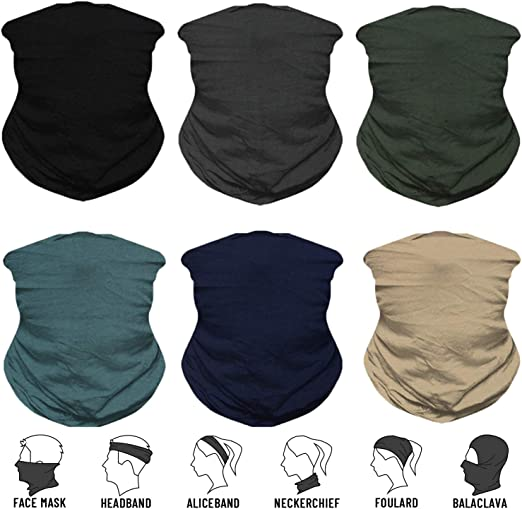 Wide Headband Outdoors Headwear Scarf Bandanna Headwrap Balaclava Tube Mask Multifunctional Headwear YouGa Headband Bandana