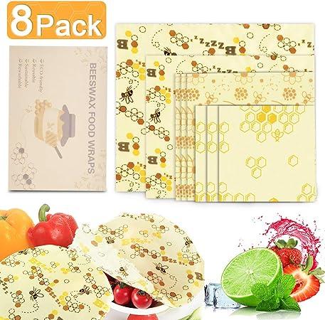 Verdure e Pan Frutta Shayson Involucro di Cera dapi-Set di 6 Bee Wrap Involucri,Cera dapi Sustainable Riutilizzabile per Alimenti Variety Pack Formaggi
