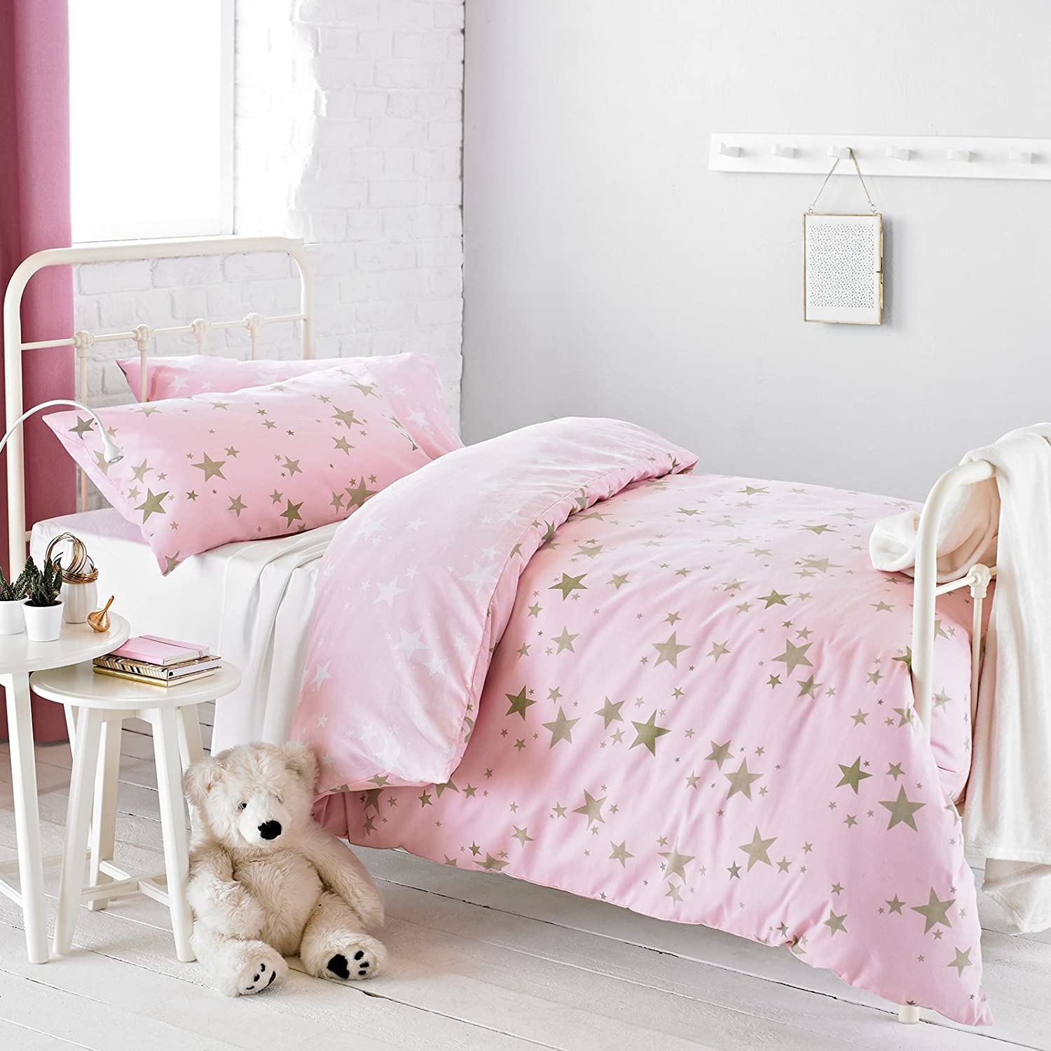Textile Warehouse Constellation Star Gold Rose Pink Girls Kids