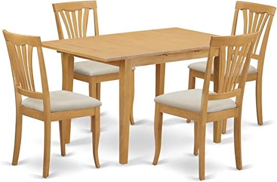 NOAV5-OAK-C 5 Pc Dinette set - Kitchen dinette Table and 4 Kitchen Chairs