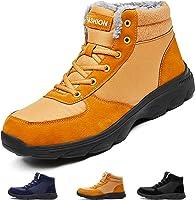 Hombre Botas de Nieve Invierno Aire Libre Zapatos Impermeable Antideslizante Calientes Botines Planas