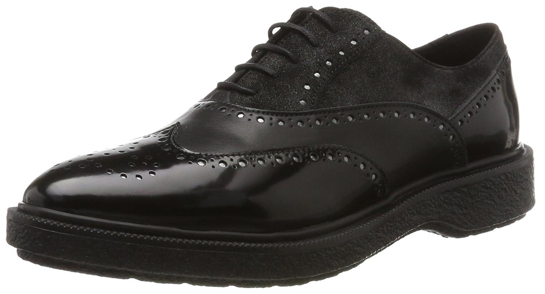 Geox D Prestyn B, Zapatos de Vestir para Mujer 35 EU|Negro (Black)