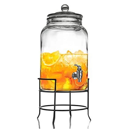 a41e438a154 Image Unavailable. Image not available for. Color  Style Setter Montgomery  210942-GB 2.75 Gallon Glass Beverage Drink Dispenser with Metal Stand