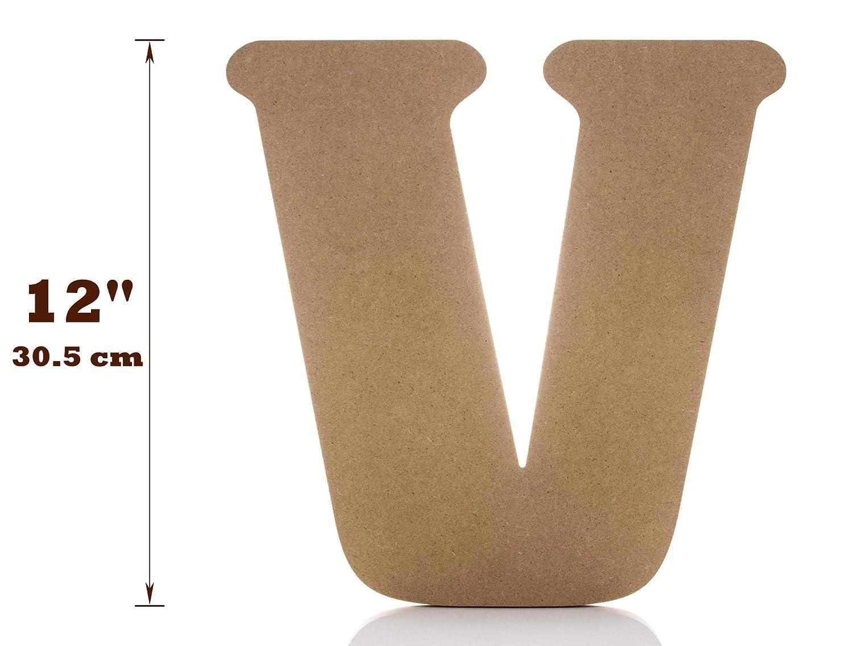 tama/ño grande para el hogar J-ouuo Letras de madera para decoraci/ón de la pared sin terminar