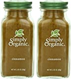 Simply Organic Cinnamon Ground Certified Organic, 2.45-Ounce Container Pack Of 2.