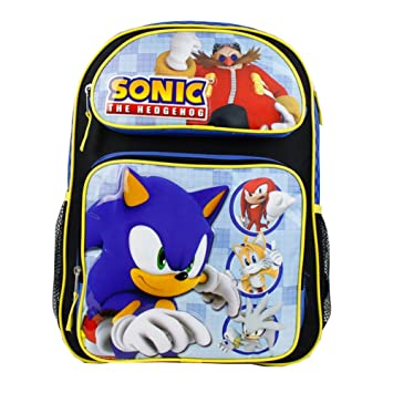 e49fd809d82dd Sonic The Hedgehog Boys 16' Large School Backpack - Heroes Ready ...