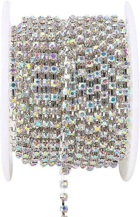 Cystal Rhinestone Trim Close Cup Chain Claw DIY Jewelry Making