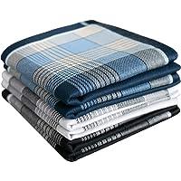 "Men's Cotton Handkerchiefs Check Pattern Hankies 16"""