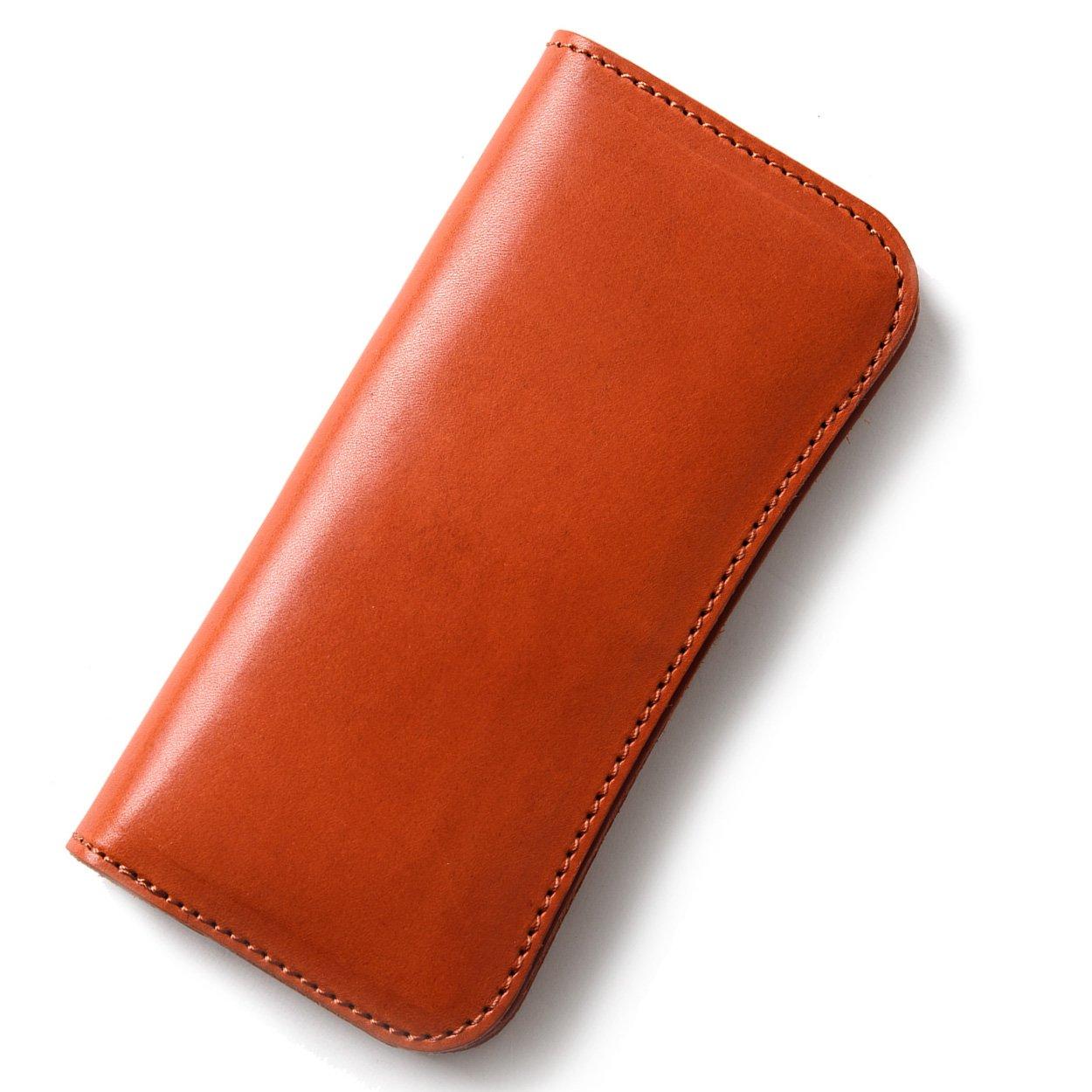 (東京下町工房)長財布 メンズ財布 本革 栃木レザー ヌメ革 日本製 全6色 B07BY94WMS オレンジ オレンジ
