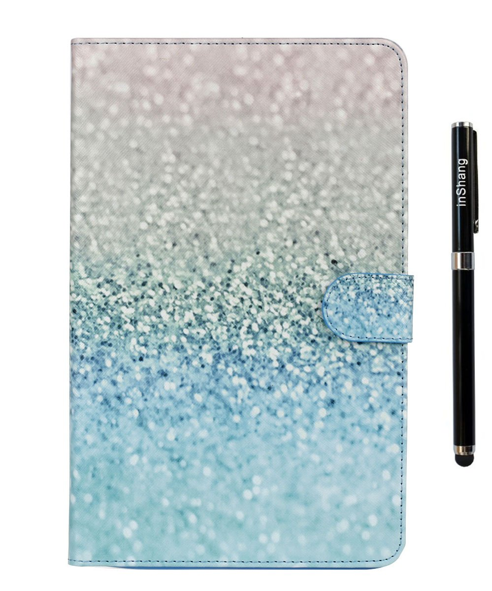 inShang T560 Case for Samsung Galaxy TAB E 9.6 Inch T 560, With Color Painting Pattern, Stand Cover+1pc High end class business stylus Pen